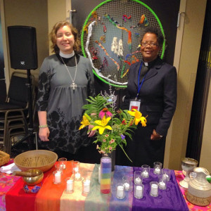 Rev. Erica Lea & Rev. Leslie Harrison, current-day prophets leading worship at Christian Feminism Today Gatherig